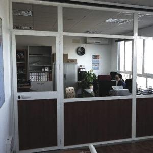 Instalación de Aluminio en oficina